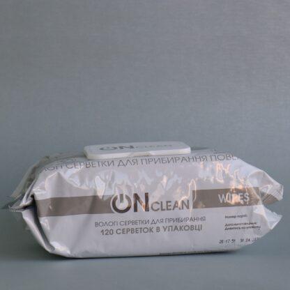 Салфетки OnClean (для поверхностей), 120 шт в мягкой упаковке